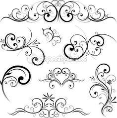 Vektor scroll ornament — Stockillustration #6059417                                                                                                                                                                                 Mehr