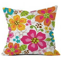 Khristian A Howell Kaui Blooms Throw Pillow - Decorative Pillows at Hayneedle