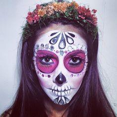 Catrina Mexicana / Mexical Sugar Skull. Makeup and hair piece by me. Lala Beatriz Makeup.