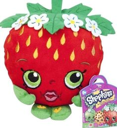 NEW Shopkins Plush Doll STRAWBERRY KISS Fruit Shopkin Great Easter GIFT holidays #Shopkins