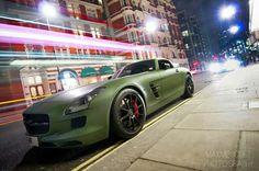 Military Green Merecedes-Benz SLS AMG