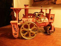 "NICE 1920s HUBLEY CAST Iron 8"" HUBER ROAD ROLLER Arcade Kenton AC WILLIAMS #KentonToys"
