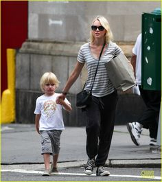 Naomi Watts out and about with her son Samuel on June 3, 2013