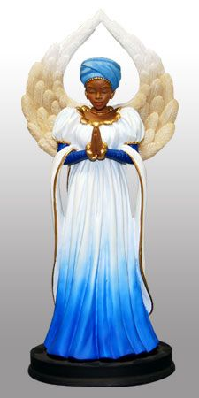 Praise and Worship African American Angel - Serenity in Blue