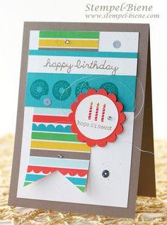 Stempel-Biene: Geburtstagskarte mit Sprinkles on Top