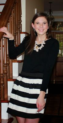 Black   White   Pearls All Over {My New Year's Eve Attire}