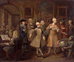 Hogarth, William - Carrière du libertin : 2. Le réveil - Sir John Soane's Museum, Londres