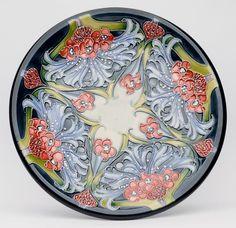 Moorcroft Florian Lilac Plate