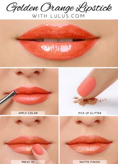 LuLu*s How-To: Golden Orange Lipstick Tutorial