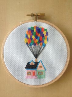 Up House with Balloons Cross Stitch Pattern Disney from MoragsCrossStitch on Etsy. Saved to Artsy fartsy.