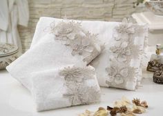 Ice Floral Towels