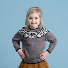 Ravelry: Panda Sweater pattern by Hobbii Design Knitting Patterns Free, Free Knitting, Baby Knitting, Free Pattern, Sweater Patterns, Pattern Design, Knitted Hats Kids, Knitting For Kids, Kids Hats