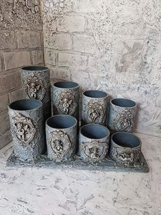 Tin Can Art, Tin Art, Tin Can Crafts, Clay Crafts, Muebles Shabby Chic, Plaster Art, Iron Orchid Designs, Candle Craft, Wine Bottle Art