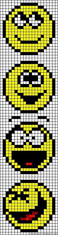 Smiley faces perler bead pattern