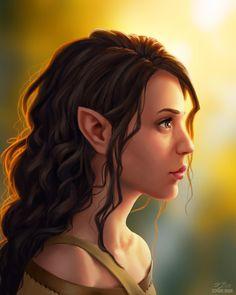 Grace portrait Half-Elven Bard Girl by Stephanie Brown : characterdrawing Fantasy Portraits, Character Portraits, Character Art, Character Ideas, Dnd Characters, Fantasy Characters, Female Characters, Elfen Fantasy, Fantasy Rpg