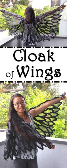 Fly high with a handmade cloak of wings...