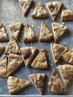 To make toasted pita triangles, I cut pita bread into triangles and bake them in a 375 degree oven for 8-10 minutes. They're great with dips and hummus!
