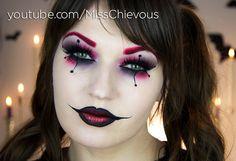 Harley Quinn Halloween Makeup - MissChievous.tv by Julia Graf