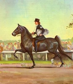 The American Saddle Horse Takes the Top Prize. Vintage Horse Print by Artist Wesley Dennis. Ready to Frame. (No. 394) via Etsy