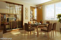Sala de jantar decorada 80