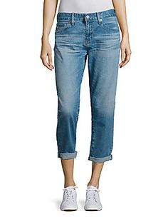 AG Ex-Boyfriend Rolled Cropped Jeans