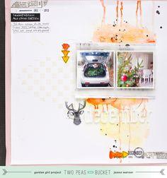 DIY: Multi-Medium Scrapbooking-Layout inkl. Video | Janna Werner