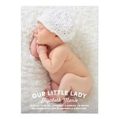 Our Little Lady Birth Announcement #baby #birthannouncement