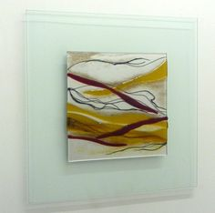 Image of Amber Red Wall Picture 50cm X 50cm