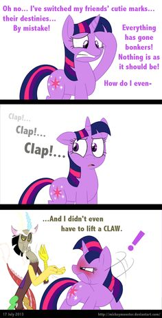 Magical Mystery Goof-Up by Mickeymonster on DeviantArt My Little Pony Characters, My Little Pony Comic, My Little Pony Drawing, My Little Pony Pictures, Mlp Comics, Funny Comics, Mlp Pony, Pony Pony, Mlp Memes