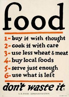 u.s food administration poster