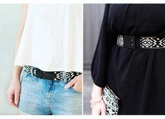 elastischer Gürtel aus Leder // leather belt by pikfine Accessoires via DaWanda.com