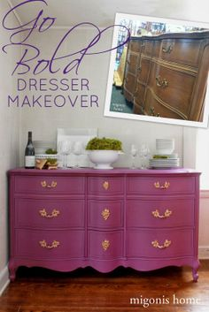 Dresser makeover done in Perfection by #countrychicpaint By Migonis Home