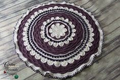 Ravelry: A Round The Flower Garden Afghan pattern by Kate Wagstaff