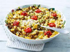 Mummin liha-makaronilaatikko Pasta Salad, Macaroni And Cheese, Chili, Soup, Ethnic Recipes, Crab Pasta Salad, Mac And Cheese, Chile, Soups