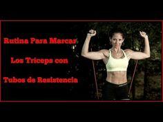 Rutina Para Marcar los Tríceps con Tubos de Resistencia/Triceps workout.