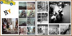 Fotobuch quadratisch Beispiel Layout
