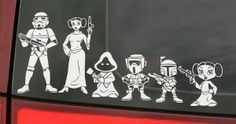 I only have one kid, but I may have to consider having more so I can use all these.  starwarsfamilymembercarstickers