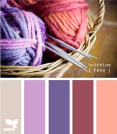 Knitting hues color scheme