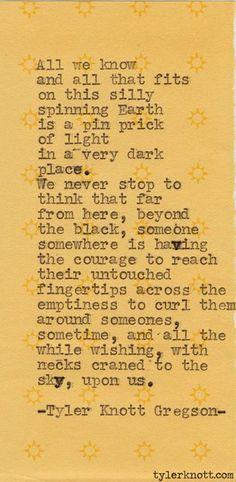 Typewriter Series #192 by Tyler Knott Gregson