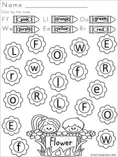 Spring words. Trace and color. Preschool Spring Crafts