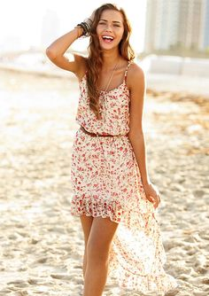 dELiAs  Floral Strappy High-Low Dress  dresses  casual