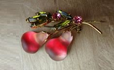 Berry and fruit costume jewellery made in Austria in 1940s - 50s