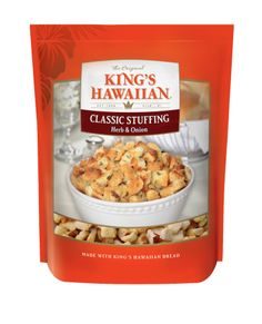 Made with irresistible KING'S HAWAIIAN bread and seasonal herbs, this slightly sweet and deliciously savory stuffing will make any meal special. King's Hawaiian Recipes.