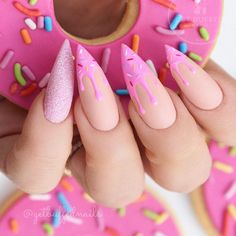 18 Cute Nail Designs that You Will Like for Sure ★ Cute and Awesome Nail Designs for Food Lovers Picture 3 ★ See more: http://glaminati.com/cute-nail-designs/ #cutenails #cutenaildesigns