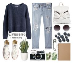 """""""underdog"""" by silvanacavero ❤ liked on Polyvore featuring Converse, MTWTFSS Weekday, rag & bone/JEAN, PLANT, ASOS and Muji"""