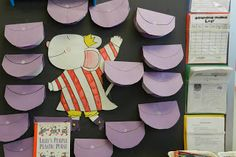 I love the purple purses for Lili's Plastic Purple Purse by Kevin Henkes.  What a great idea!