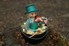 Leprechaun & his Gold, (Fairy Folk Originals)