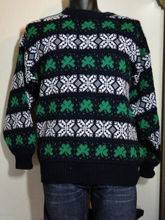 Irish Ugly Christmas Sweater Cardigan Cheap Jumper  Tacky, Gaudy, Novelty, Holiday, Party, Xmas by ABetterSweaterShop on Etsy 13