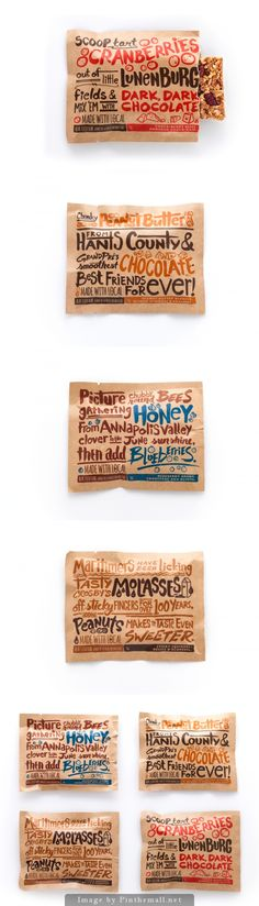 Yummy Made with Local good for you identity #packaging #branding curated by Packaging Diva PD - kraft
