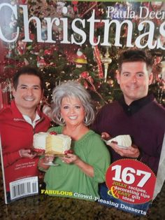 Paula Deen Christmas magazine Holiday recipes Festive decorating tips Gift ideas Christmas Food Gifts, Holiday Treats, Christmas Baking, Holiday Recipes, Christmas Things, Christmas Goodies, Christmas Recipes, Christmas Decor, Snack Mix Recipes